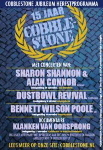 Cobblestone poster voor jubileum