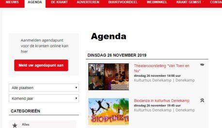 Activiteiten in agenda van krant NO Twente